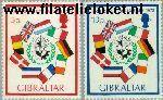 Gibraltar gib 297#298  1973 Toetreding E.E.G.  Postfris