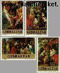 Gibraltar gib 367#370  1977 Rubens, Peter Paul  Postfris