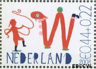 Nederland NED 2608d  2008 Laat kinderen leren 44+22 cent  Gestempeld