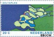 Nederland NL 1002#  1972 Haringvlietdam  cent  Gestempeld