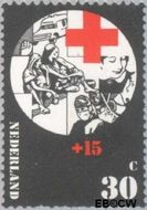 Nederland NL 1018  1972 Rode Kruis 30+15 cent  Gestempeld