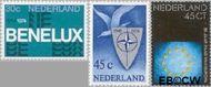 Nederland NL 1055#1057  1974 Internationale organisaties  cent  Gestempeld