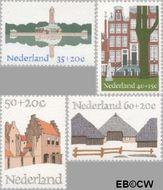 Nederland NL 1068#1071  1975 Architectuur  cent  Gestempeld