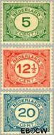 Nederland NL 107#109  1921 Cijfer type 'Vürtheim'  cent  Ongebruikt