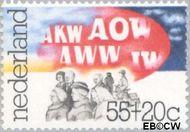 Nederland NL 1087  1976 Sociale voorzieningen 55+20 cent  Gestempeld