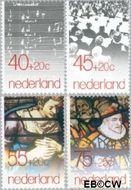 Nederland NL 1175#1178  1979 Muziek en Goudse glazen  cent  Gestempeld