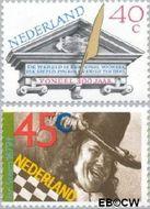 Nederland NL 1184#1185  1979 Vondel en Steen  cent  Gestempeld