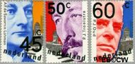 Nederland NL 1191#1193  1980 Politici  cent  Gestempeld