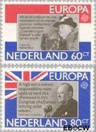 Nederland NL 1207#1208  1980 C.E.P.T.- Bekende personen  cent  Gestempeld