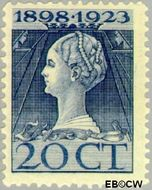 Nederland NL 125  1923 Koningin Wilhelmina- Regeringsjubileum 20 cent  Gestempeld