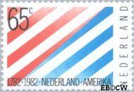 Nederland NL 1267  1982 Betrekkingen Nederland-U.S.A. 65 cent  Gestempeld