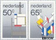 Nederland NL 1287#1288  1983 De Stijl  cent  Gestempeld