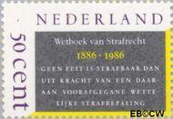 Nederland NL 1345  1986 Wetboek van Strafrecht 50 cent  Gestempeld
