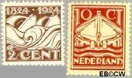 Nederland NL 139#140  1924 Ned. Reddingmaatschappij   cent  Gestempeld