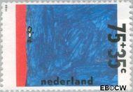 Nederland NL 1417  1988 Kindertekeningen 75+35 cent  Gestempeld