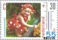 Nederland NL 1444  1990 Het weer 55+30 cent  Gestempeld