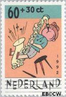 Nederland NL 1538  1992 Muziek maken 60+30 cent  Gestempeld