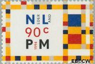 Nederland NL 1597  1994 Mondriaan, Piet 90 cent  Gestempeld