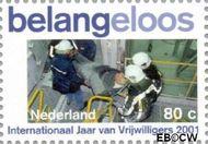 Nederland NL 1968a  2001 Vrijwilligerswerk 80 cent  Gestempeld