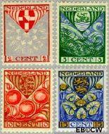 Nederland NL 199#202  1926 Provinciewapens   cent  Gestempeld