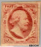 Nederland NL 2  1852 Koning Willem III- 1e emissie 10 cent  Gestempeld