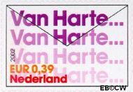 Nederland NL 2060  2002 Felicitatie- zegels 39 cent  Postfris