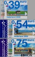 Nederland NL 2062#2064  2002 Euro-zegel  cent  Gestempeld