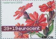 Nederland NL 2168  2003 Aquarellen van bloemen 39+19 cent  Gestempeld