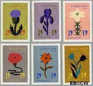 Nederland NL 2252#2257  2004 Bloem en kunst  cent  Postfris