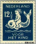 Nederland NL 228  1929 Kind op dolfijn 12½+3½ cent  Gestempeld