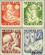 Nederland NL 232#235  1930 Jaargetijden   cent  Gestempeld