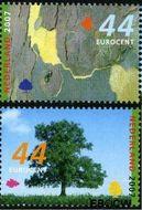 Nederland NL 2510#2511  2007 Bomen in de zomer  cent  Gestempeld