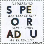 Nederland NL 2626  2009 Lees Mee- Braille 44 cent  Gestempeld