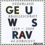 Nederland NL 2631  2009 Lees Mee- Braille 44 cent  Gestempeld