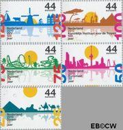 Nederland NL 2708#2712  2010 Jubilea  cent  Gestempeld