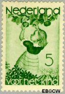 Nederland NL 280  1935 Appelplukkend meisje 5+3 cent  Gestempeld