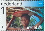 Nederland NL 2826  2011 UNICEF 65 jaar 1 cent  Gestempeld