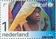 Nederland NL 2831  2011 UNICEF 65 jaar 1 cent  Gestempeld