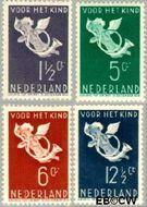 Nederland NL 289#292  1936 Bazuinengel   cent  Postfris