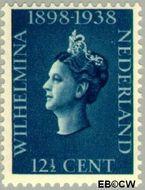 Nederland NL 312  1938 Koningin Wilhelmina- Regeringsjubileum 12½ cent  Gestempeld