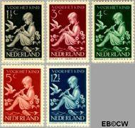 Nederland NL 313#317  1938 Kind en muziek   cent  Postfris