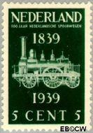 Nederland NL 325  1939 Spoorwegjubileum 5 cent  Postfris