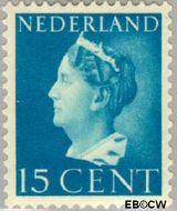 Nederland NL 337  1940 Wilhelmina- Type 'Konijnenburg' 15 cent  Gestempeld