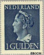 Nederland NL 346  1946 Wilhelmina- Type 'Konijnenburg' 100 cent  Gestempeld