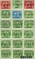 Nederland NL 356#373  1940 Cijfer type 'Guilloche' of ' tralie'   cent  Gestempeld