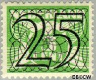 Nederland NL 364  1940 Cijfer type 'Guilloche' of ' tralie' 25 cent  Gestempeld