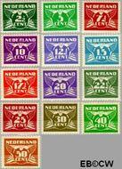 Nederland NL 379#391  1941 Vliegende Duif   cent  Gestempeld