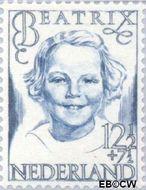 Nederland NL 459  1946 Prinsessen 12½+7½ cent  Gestempeld