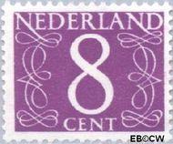 Nederland NL 468  1957 Cijfer type 'van Krimpen' 8 cent  Gestempeld