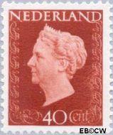 Nederland NL 486  1947 Koningin Wilhelmina- Type 'Hartz' 40 cent  Gestempeld